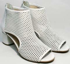 Летние ботинки с перфорацией женские Magnolya 3503 56-3 SummerWhite