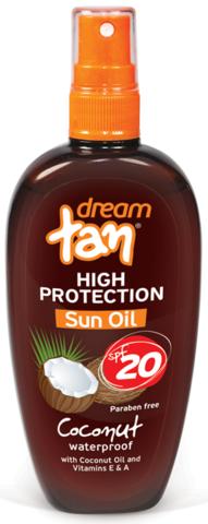 Масло для загара SPF 20 с каротином Dream Tan 150 мл.