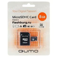 Карта памяти Qumo 8gb micro sd