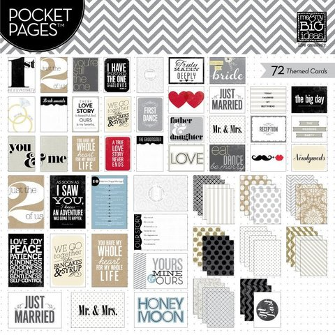 Набор карточек для Project life - Me & My Big Ideas Pocket Pages Themed Cards - Wedding 72 шт