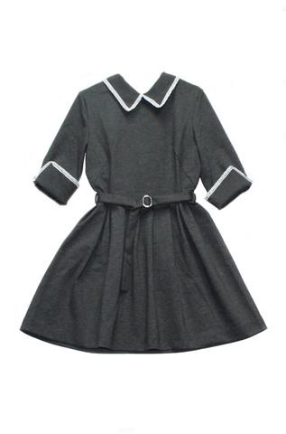 Пт-23,0 Баловень Школьное платье для девочки серое