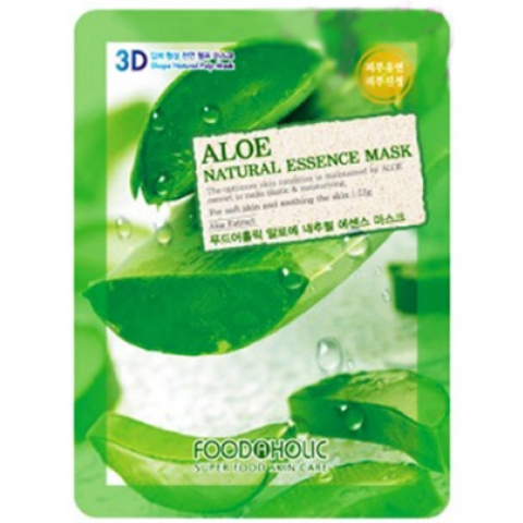 FoodaHolic 3D Маска с натуральным экстрактом алоэ (ткан.) 23г