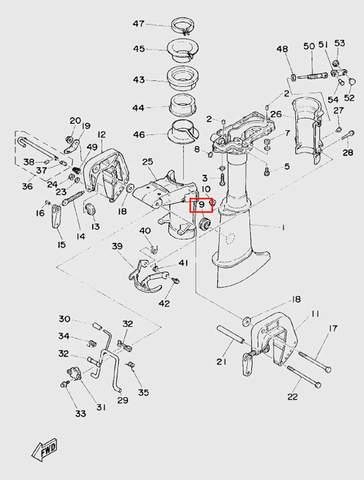 Заглушка дейдвуда  для лодочного мотора T5 Sea-PRO (10-9)