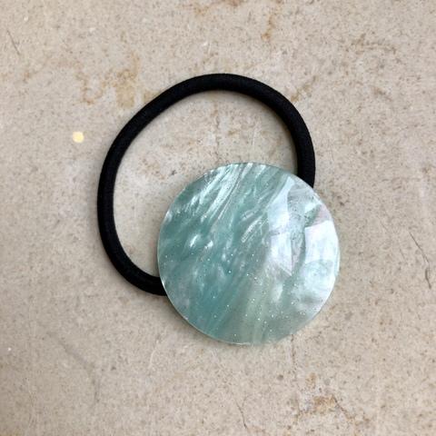 Резинка для волос с диском мятного цвета