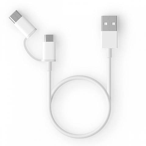 Кабель Mi 2-in-1 USB Cable Micro USB to Type C (30 cm)