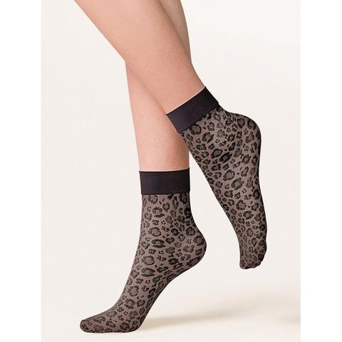 Эластичные носочки с леопардовым узором Caty