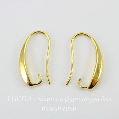 Швензы - крючки, 20х2 мм (цвет - золото), пара