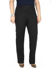 28-09 брюки женские утепленные, черно-серые