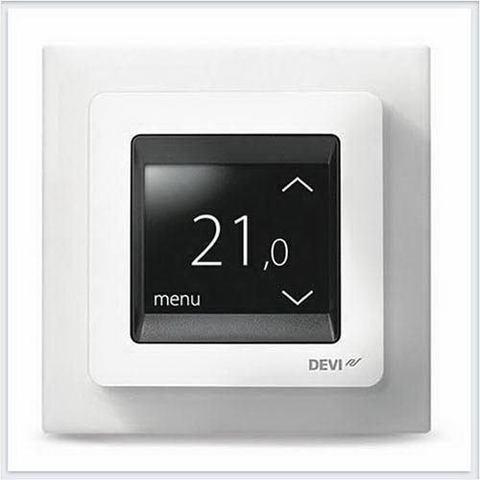Терморегулятор для теплого пола. Терморегулятор DEVIreg™ Touch c комбинацией датчиков, белый. 16А. 140F1064