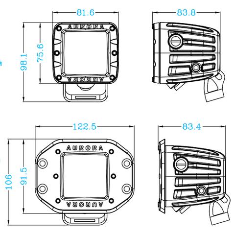 Светодиодная фара  2 дальнего  света Аврора  ALO-2-P4T ALO-2-P4T  фото-6