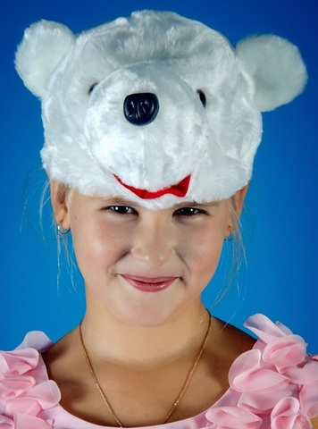 Карнавальная шапочка Белого Медведя 1