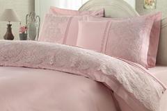 Постельное белье Gelin Home ELMAS  темно-розовый евро