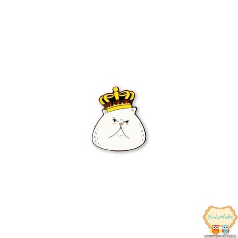 Значок Кіт в короні