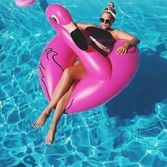 Надувной круг фламинго розовый Pink Flamingo 90 см