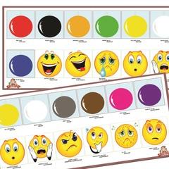 Набор для обучения: Английский язык - Цвета, эмоции (Colors, emotions)