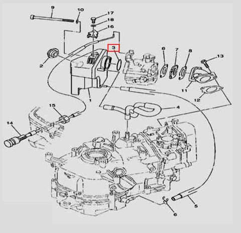 Кольцо уплотнительное 2×32.6 для лодочного мотора F5 Sea-PRO(6-3)