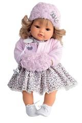 Munecas Antonio Juan Озвученая кукла Белла в розовом (плачет), 42 см (1669P)