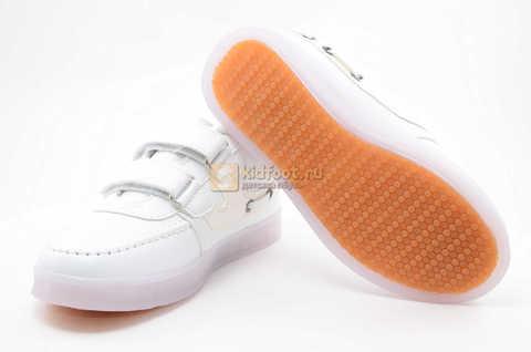 Светящиеся кроссовки с USB зарядкой Бебексия (BEIBEIXIA) для девочек цвет белый. Изображение 9 из 12.