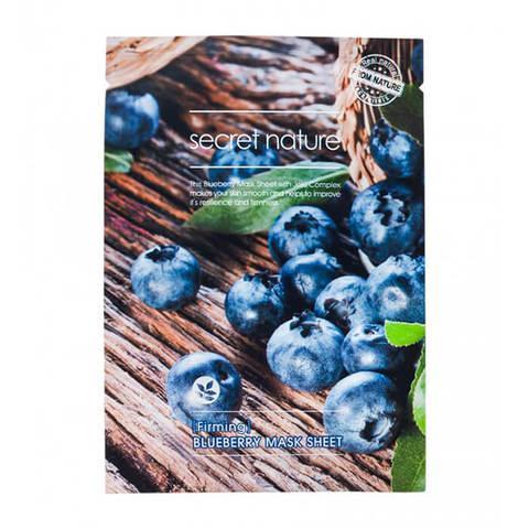 Secret Nature Firming Blueberry Mask Sheet Укрепляющая маска для лица с черникой 25мл