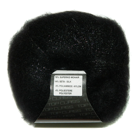 Пряжа Lana Gatto Silk Mohair Lux 05000 черный