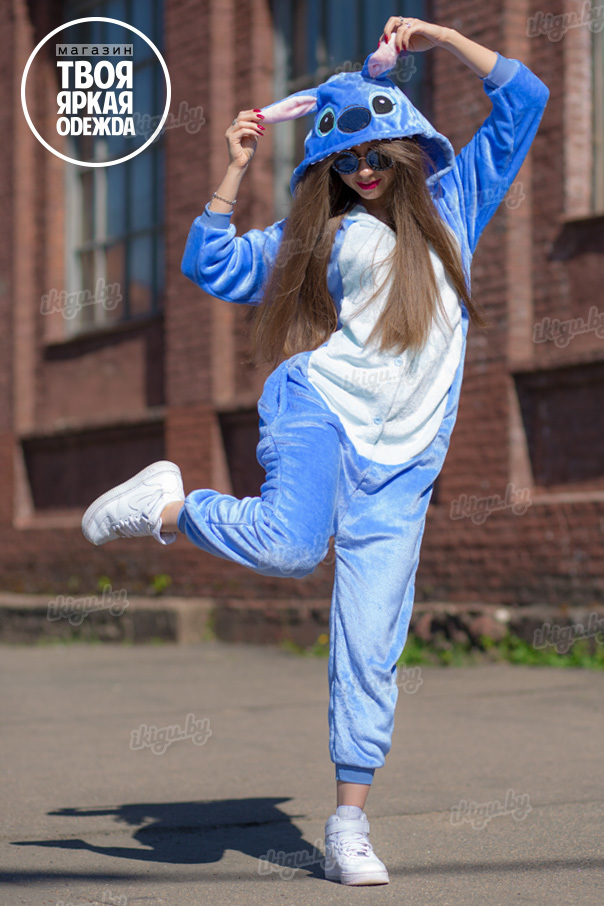 Пижамы кигуруми (рост от 140 до 187 см) Стич Голубой stich-siny.jpg