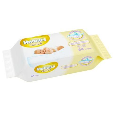 Салфетки Huggies Elite Soft 64 шт