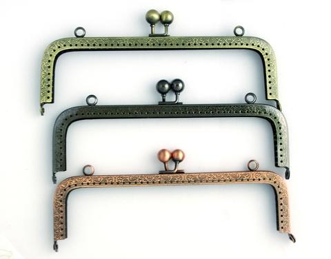 Фермуар (рамочный замок) прямоугольный, 20 см (выбрать цвет)