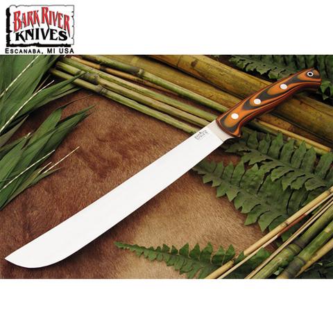 Нож Bark River Golok модель Upswept Tigerstripe G-10