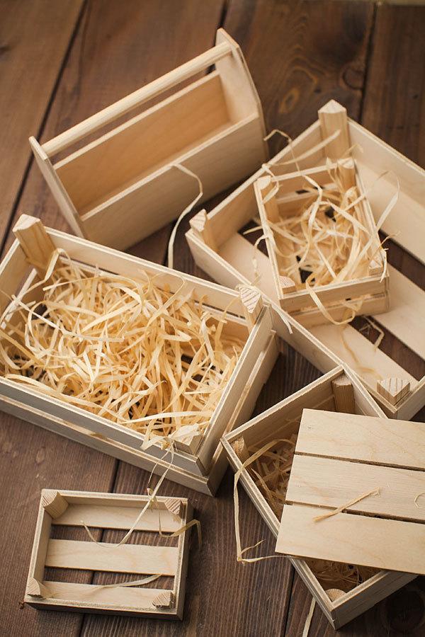 Ящик для подарков деревянный с ручкой