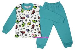 886 пижама мальчик машинки