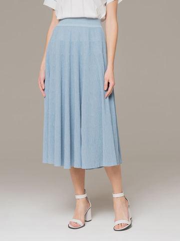 Light blue female midi skirt - фото 2