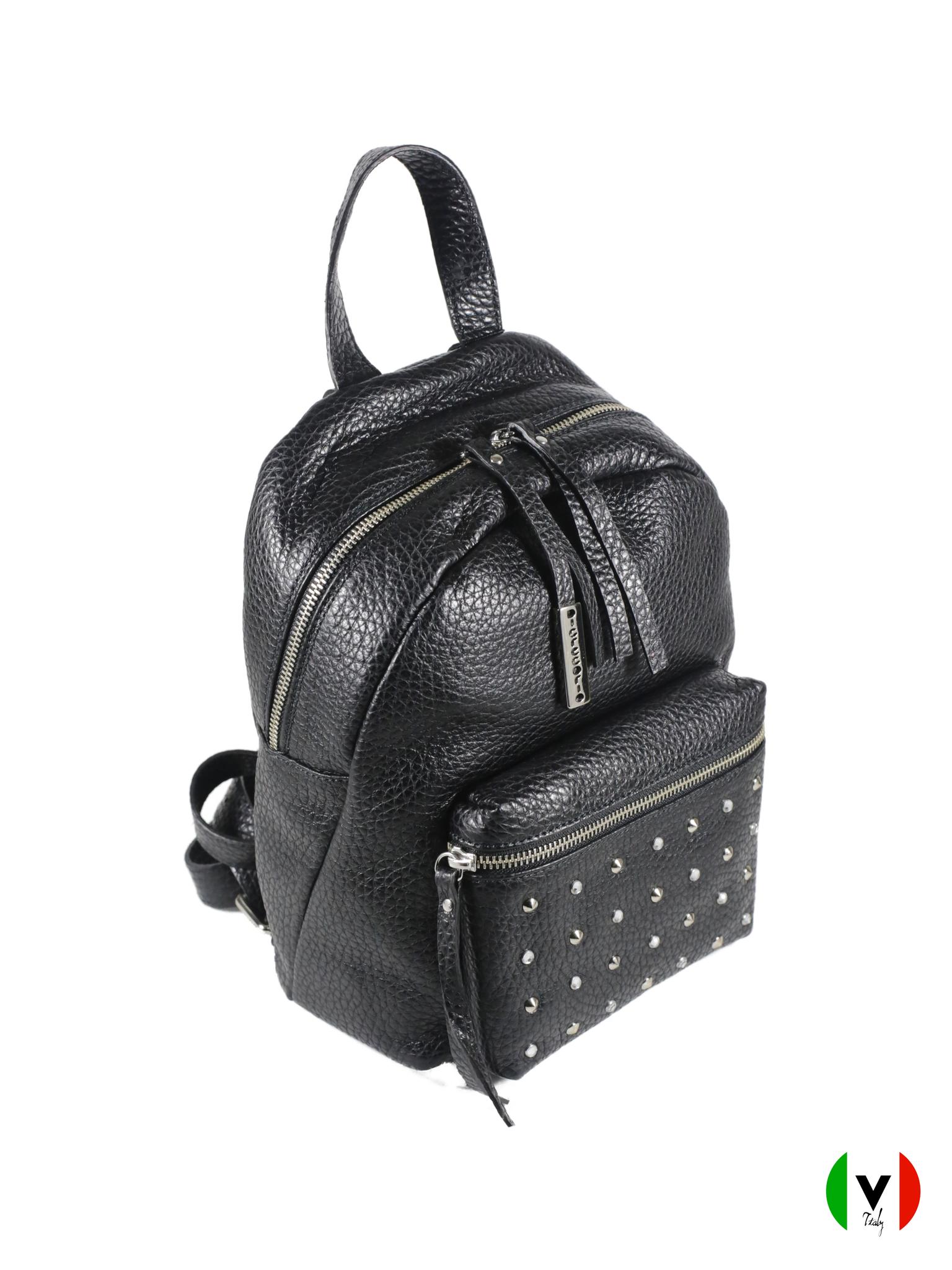 Сумка-рюкзак Di Gregorio чёрного цвета 2649, артикул 2649, цена 18 500 руб., veroitaly.ru