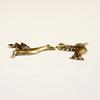"""Винтажный декоративный элемент - Пара подвесок """"Колибри"""" 18х10 мм (оксид латуни)"""