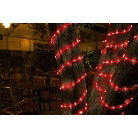 Дюралайт отрезок  готовый набор 20м красный на деревья светодиодный шнур