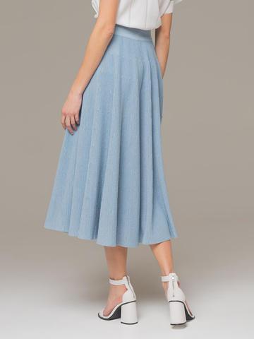 Light blue female midi skirt - фото 4