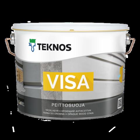 TEKNOS VISA/ТЕКНОС ВИЗА Водоразбавляемый кроющий антисептик на основе акрилата усиленный алкидом для наружных работ