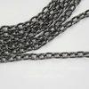 Цепь с насечками (цвет - черный никель) 4х3 мм, примерно 2 м