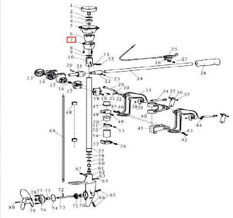 Труба соединительная для лодочного мотора T3,5 Sea-PRO