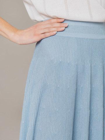 Light blue female midi skirt - фото 5