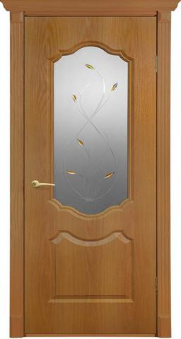 Дверь Канадка Анастасия (миланский орех, остекленная ПВХ), фабрика AIRON