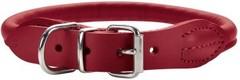 Ошейник для собак Hunter Round&Soft Elk 32 (24-27 см)/0,6 см  кожа лося красный чили