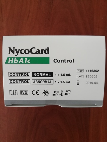 Контрольный материал на гликоз.гемоглобин Никокард-NycoCard HbA1c ,2х1x1,5 мл