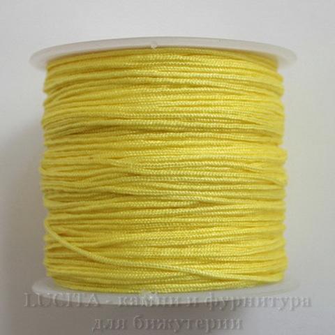 Нейлоновый шнур 1 мм (цвет - желтый) 35 м
