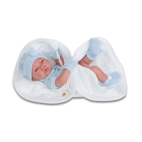 Munecas Antonio Juan Кукла-младенец Тони (мальчик) в голубом,42см (5063B)