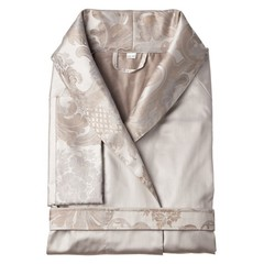 Элитный халат сатиновый Louis XIV серебристый от Curt Bauer