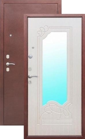 Дверь входная Цитадель Ампир белый ясень, 2 замка, 1,5 мм  металл, (медь антик+ясень белый)