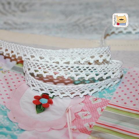 Кружево вязаное КХ15-Б (белое) 90см
