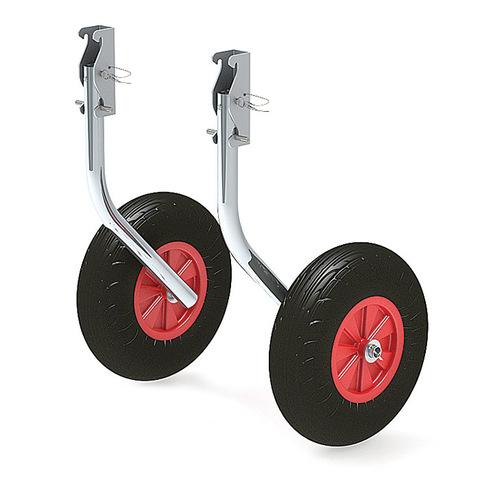 Комплект колес транцевых откидных с защелкой для НЛ усиленных 330 мм