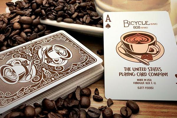 Карты с рисунком кофе