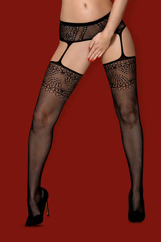 Чулки S 225 Garter Stockings Obsessive